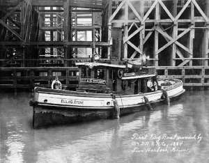 Ella G Stone at Ore Dock in Two Harbors, MN courtesy C. Patrick Labadie Collections, Duluth, MN