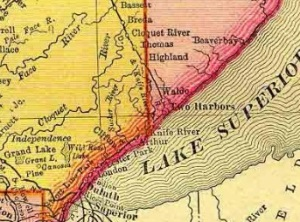 map two harbors area around 1880