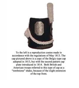 tombstone shako cap courtesy history.army.mil