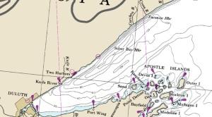 two harbors area nautical map courtesy noaa.gov