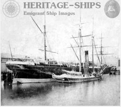 cunard ship marthon in east boston harbor