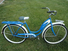old blue bike