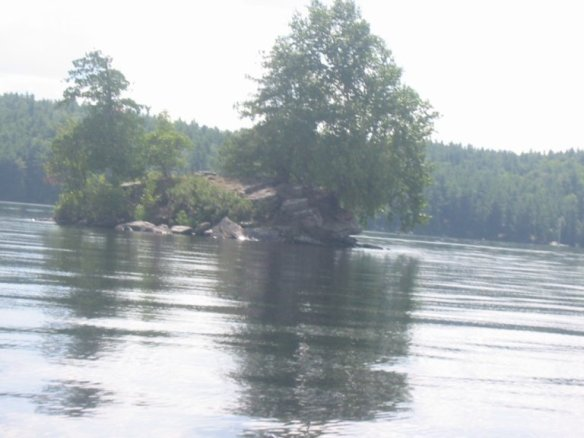 off the shore of Calabogie Lake