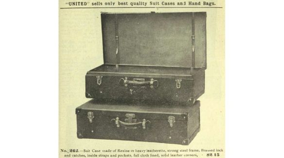 United Suitcase ad 1911 - similar to the one purchased by Leo
