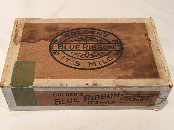 blue ribbon cigar box