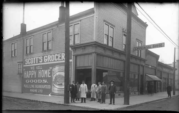 Scott's Grocery Olympia Washington - photo courtesy olympiahistory.org