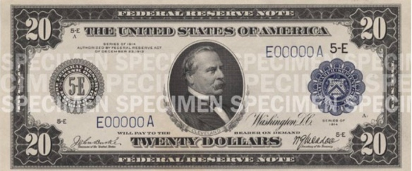 twenty dollar bill as issued until 1929
