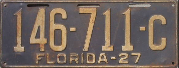 1927 Florida license plate