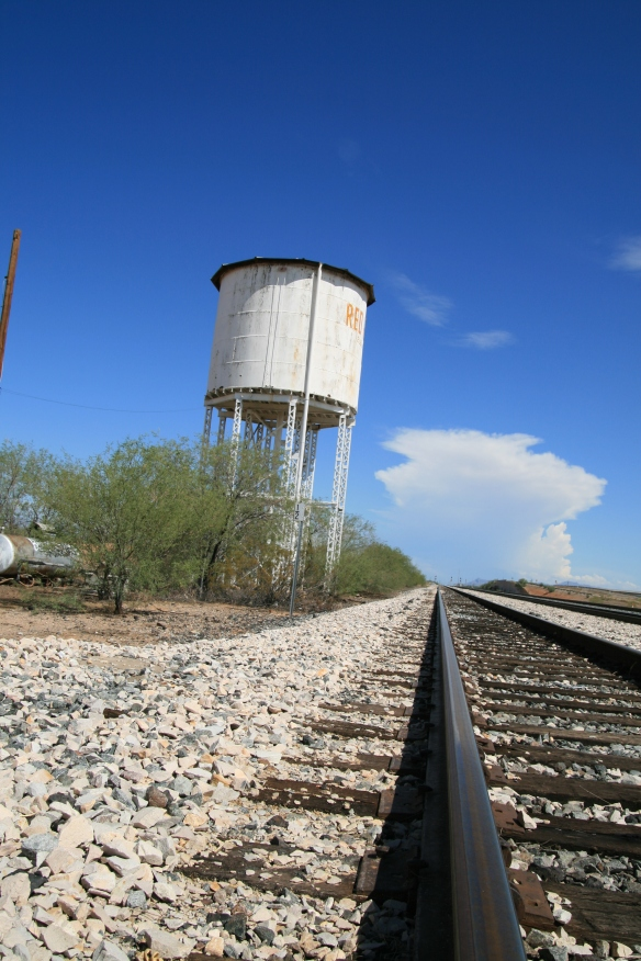 Water Tower on train line in Red Rock AZ